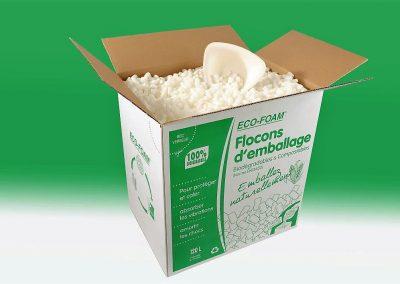 particules calage bio en boîte de 120 litres - Packlight