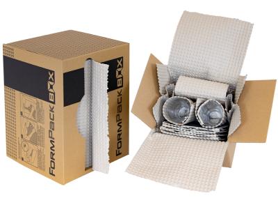 Exemple de mise en oeuvre du papier gaufré - Packlight