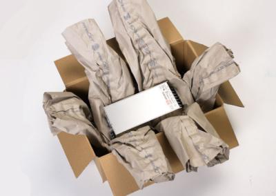 Exemple d'utilisation du papier froissé - packlight