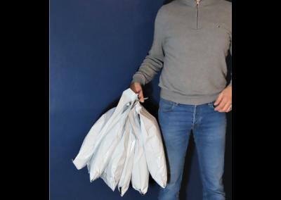 Pochette plastique recyclé avec poignée - Packlight